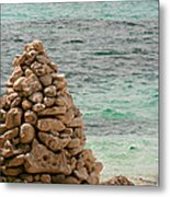 Zen Rocks In Paradise Metal Print
