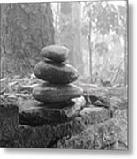 Zen Rocks Metal Print by Judy  Waller