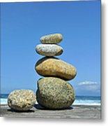 Zen Stones I Metal Print
