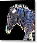 Zephyrus Zebra II Metal Print