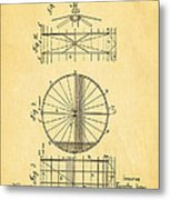 Zeppelin Navigable Balloon Patent Art 2 1899 Metal Print