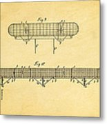 Zeppelin Navigable Balloon Patent Art 3 1899 Metal Print