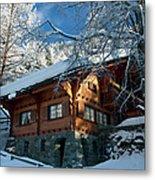 Zermatt Chalet Metal Print
