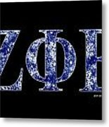 Zeta Phi Beta - Black Metal Print