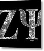 Zeta Psi - Black Metal Print