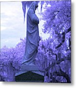 Ziba King Memorial Statue Side View Florida Usa Near Infrared Metal Print