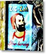 Zig Zag Double Wide Metal Print