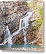 Zigzag Waterfall Metal Print