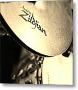 Zildjian Hi-hat Sepia Metal Print