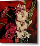 Zinnias And Gladiolas Metal Print