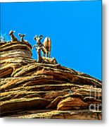 Zion Bighorn Sheep Metal Print