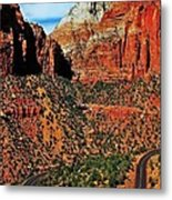 Zion Hairpin Metal Print by Benjamin Yeager