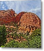 Zion National Park In Summer Metal Print