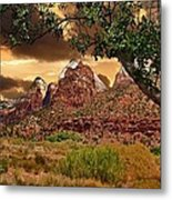 Zion National Park Work Of Art  Metal Print