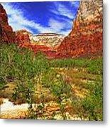 Zion Park Canyon Metal Print