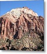 Zion Park Mountainscape Metal Print