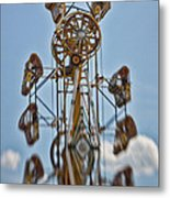 Zipper In The Sky Metal Print