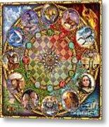 Zodiac Mandala Metal Print