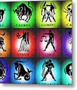 Zodiac Tile Chart Metal Print