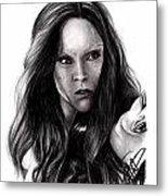 Zoe Saldana 2 Metal Print by Rosalinda Markle