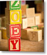 Zoey - Alphabet Blocks Metal Print