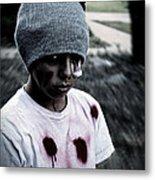 Zombie Kid Metal Print