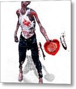 Zombie Love Metal Print by Frederico Borges