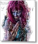 Zombie Want You Metal Print