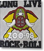 Zoo 98 Elephant Rock And Roll Metal Print