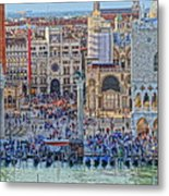 Zoom On St Marks Square Venice Italy Metal Print