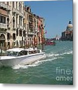 Zooming On The Canals Of Venice Metal Print
