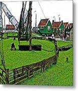 Zuiderzee Open Air Musuem In Enkhuizen-netherlands Metal Print