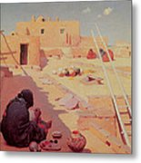 Zuni Pottery Maker Metal Print by William Robinson Leigh