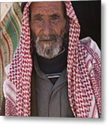 A Bedouin Man At The Camera In Front Metal Print by Taylor S. Kennedy