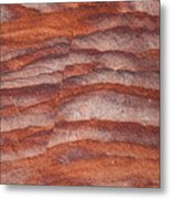 A Close View The Layered Sandstone Metal Print by Taylor S. Kennedy