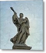 Angel With Cross. Ponte Sant'angelo. Rome Metal Print