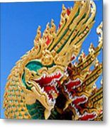 Asian Temple Dragon   Metal Print by Panyanon Hankhampa
