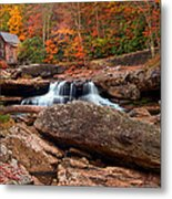 Autumn Leaves At The Mill Metal Print