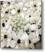 Brush Floral Design Metal Print