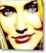 Cameron Diaz Pop Portrait Metal Print