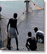 Catching The Fishes  Metal Print