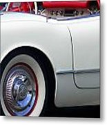 Classic White Corvette Metal Print