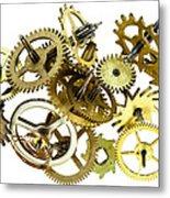 Clockwork Mechanism Metal Print