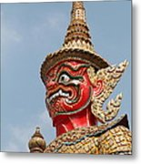 Demon Guardian Statues At Wat Phra Kaew Metal Print by Panyanon Hankhampa
