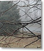 Fog Hangs Heavy Metal Print