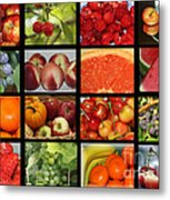 Fruits Collage Metal Print