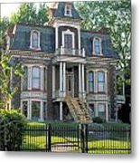 Gracious Victorian House In Montreal Metal Print
