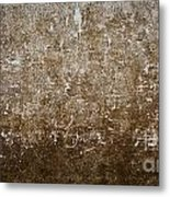 Grunge Concrete Wall Texture Metal Print
