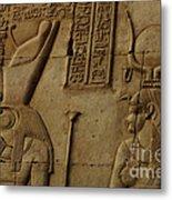 Karnak Egypt Hieroglyphics Metal Print