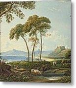 Landscape With Harlech Castle Metal Print